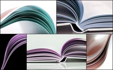 Collage mit Büchern