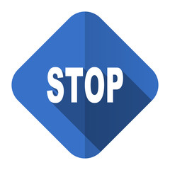 stop flat icon