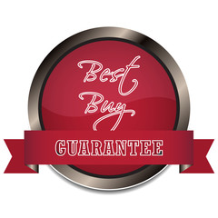 Best buy guarantee vector icon or badge