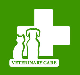 green veterinary care icon