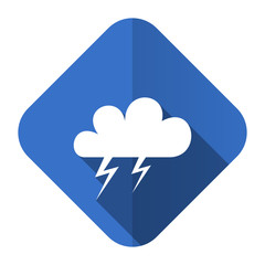 storm flat icon waether forecast sign