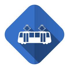 tram flat icon public transport sign