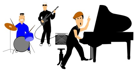 50's band with piano player frontman
