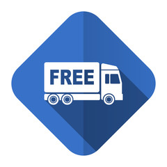 free delivery flat icon transport sign