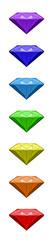 Regenbogenfarben Chakrafarben Diamanten