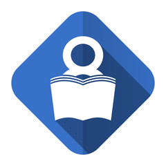 book flat icon reading room sign bookshop symbol