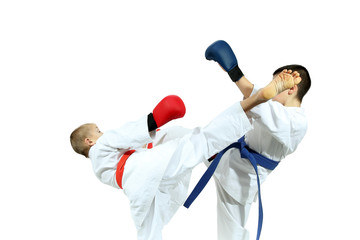 Karate on a white background