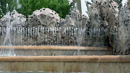 Fountain with splashing water
