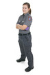 Paramedic employee in the front of a white background - 77479663