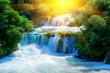 Leinwandbild Motiv Waterfalls Krka