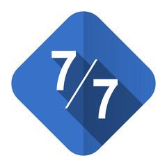 7 per 7 flat icon