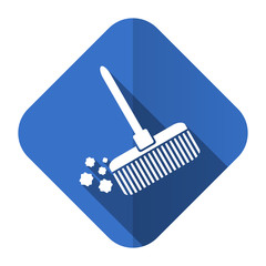 broom flat icon clean sign