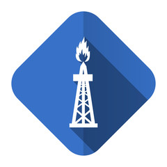gas flat icon oil sign