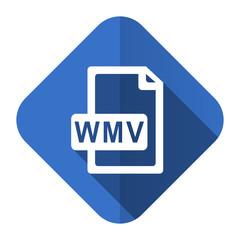wmv file flat icon