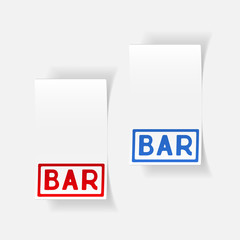 realistic design element: bar
