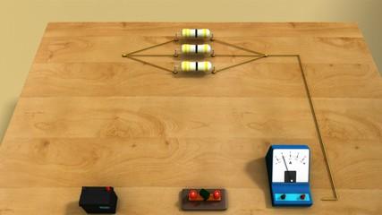 Resistors and voltmeter in Parallel.