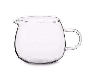Empty glass cream jug