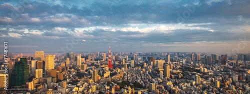 Papiers peints Tokyo Tokyo aerial panoramic view