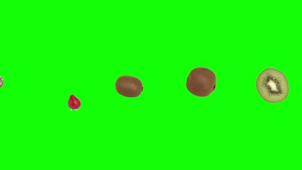 animation of fruit mix on green