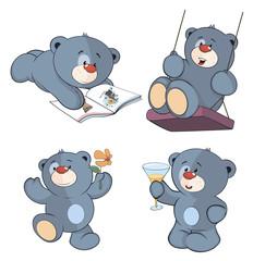 A set of bears cartoon