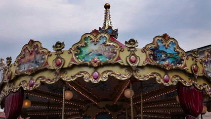 Shot of an old carousel