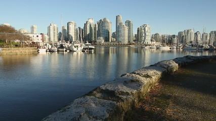 False Creek Seawall Morning, Vancouver