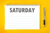 Saturday Calendar Schedule Blank Page