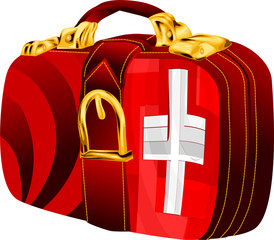 bag with switzerland flag