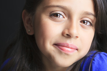 Columbian Little Girl Cute Look