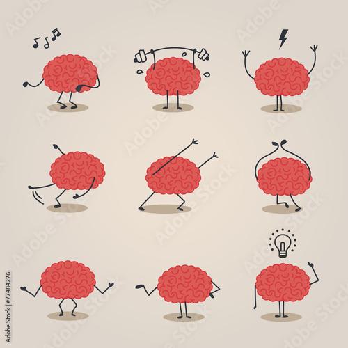 Brain character - 77484226