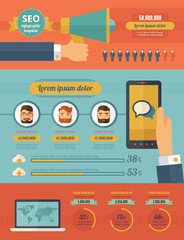 Social Media Infographic Elements.