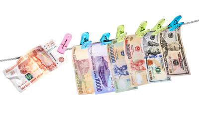 Ruble crash/Dollars, rupiah, dong and rubles