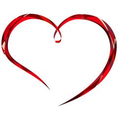 decorative valentine line heart