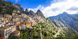 Leinwandbild Motiv Castelmezzano - beautiful mountain village in Basilicata, Italy