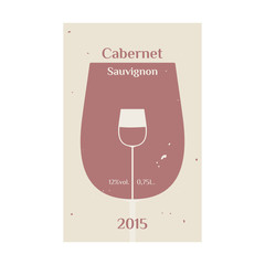 Cabernet Sauvignon label 2