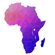 Africa in the color triangle. Vector. 1 - 77487297