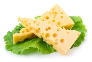 Cheese with green herb