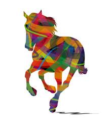 silhouette astratta di cavallo selvaggio