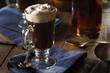 Homemade Irish Coffee with Whiskey - 77488266