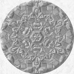Silver (grey) jewelled (diamond) orb