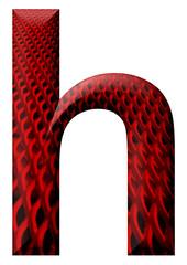 kırmızı desenli h harfi