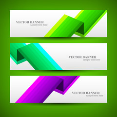 Set banner abstract illustration