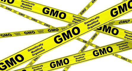 ГМО (GMO). Желтая оградительная лента