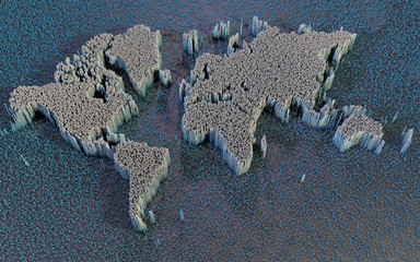 Mappa del mondo, astratta, science fiction