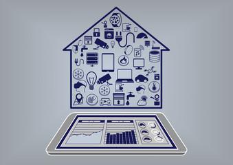 Smart home automation control via smart phone dashboard