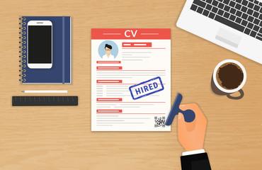 Businessman accepted CV