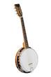 Leinwanddruck Bild - The image of white banjo isolated