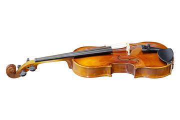 Violin isolated under the white background