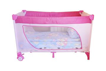 Empty baby bed