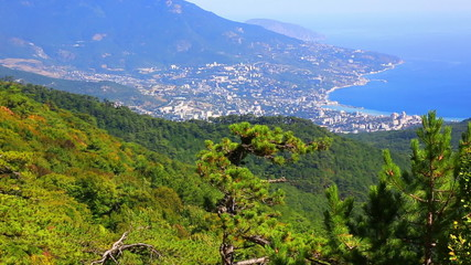 View of Yalta from the mountain Ah-Petri, zoom out